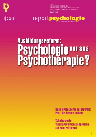 Report Psychologie 1/2015